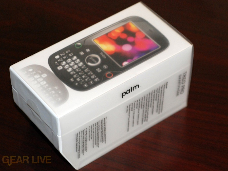 Palm Treo Pro box side