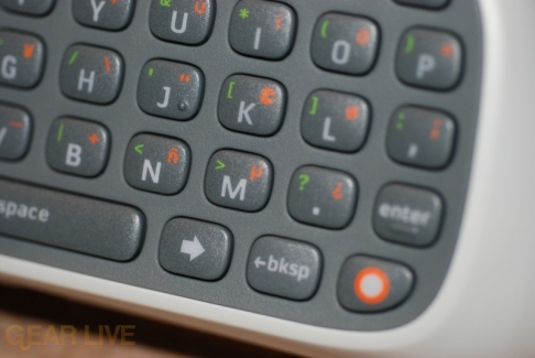 Close-up of Xbox 360 Chatpad Buttons