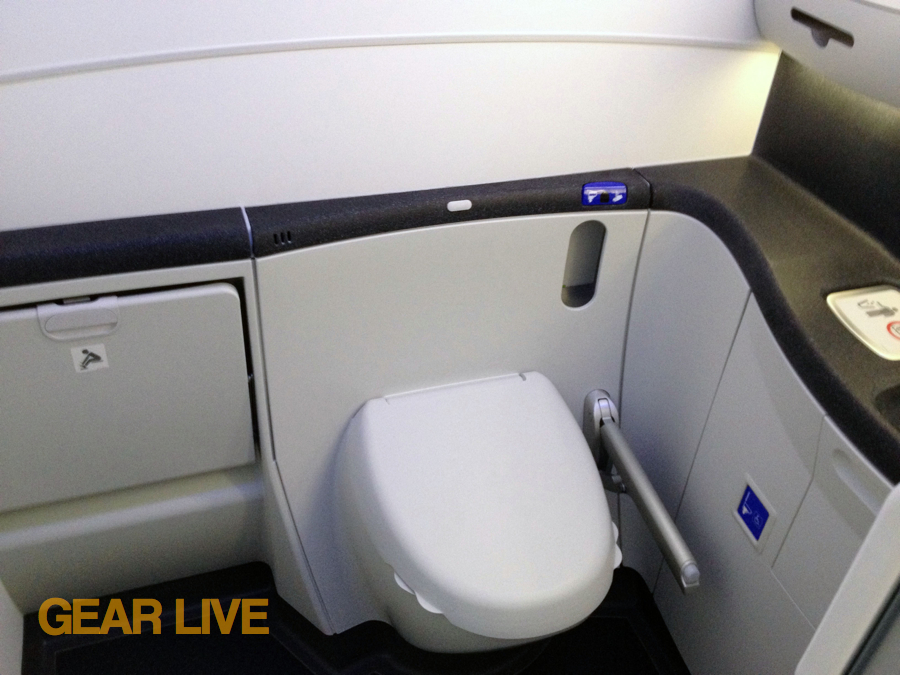 United Boeing 787 Dreamliner Restroom