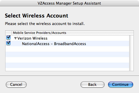 VZAccess Automatically Finds The V640 ExpressCard