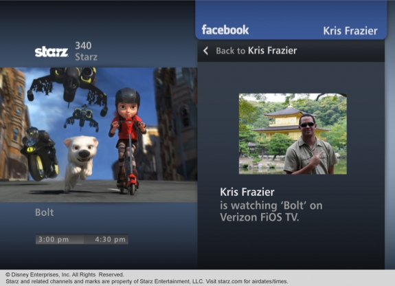 Verizon FiOS Widget Bazaar Facebook Photos