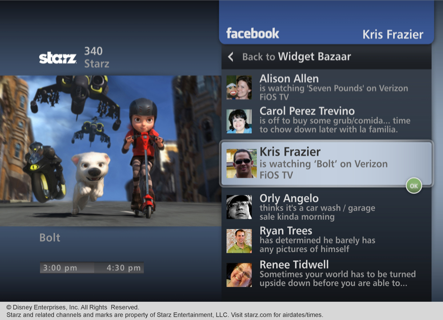 Verizon FiOS TV Facebook Status Updates