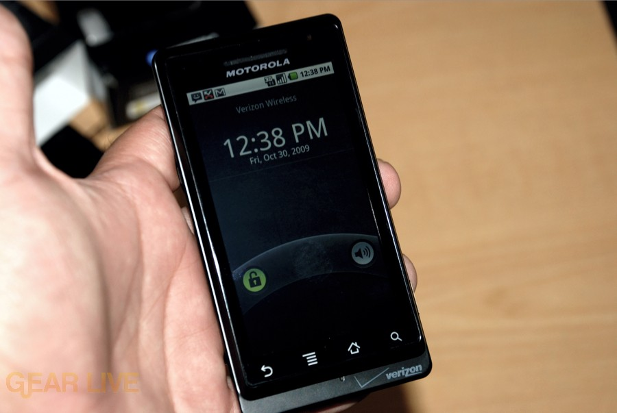 Motorola DROID display
