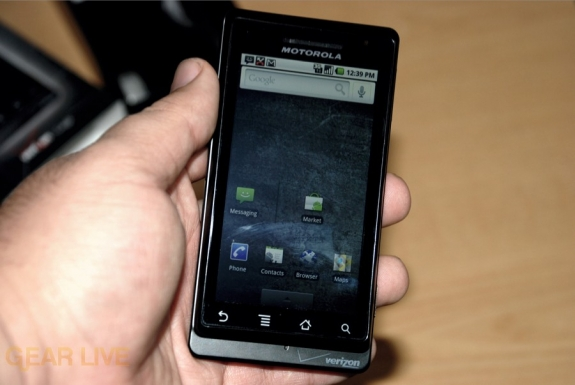 Motorola DROID running Android 2.0