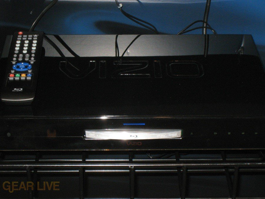 VIZIO VBR100 Blu-ray player close