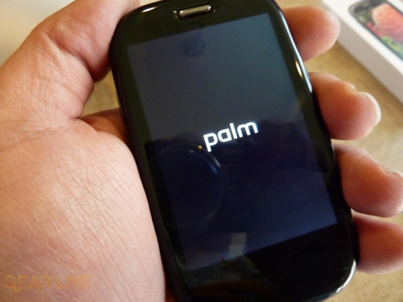 Palm Pre Plus powered on