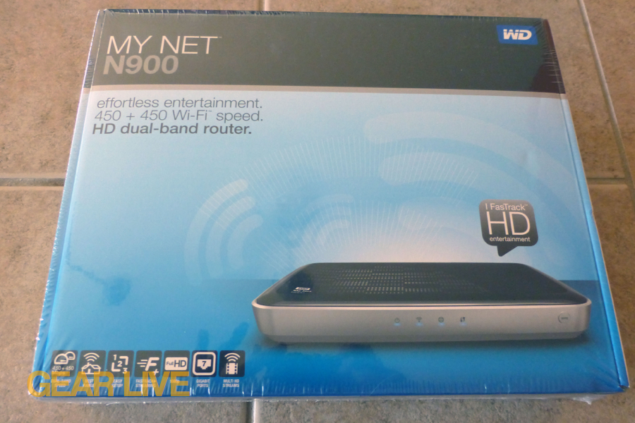 Western Digital My Net N900 HD router box