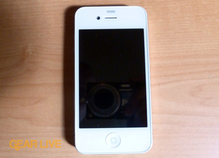 White iPhone 4 front