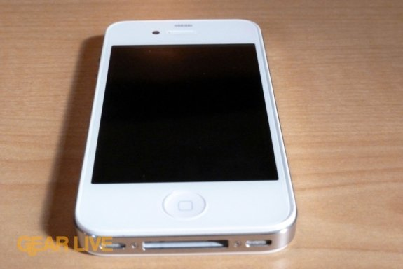 White iPhone 4 front bottom