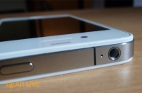 White iPhone 4 audio port