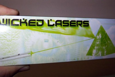 Wicked lasers Packaging