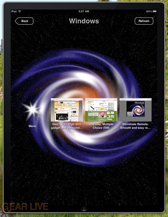 Wormhole Remote window selector