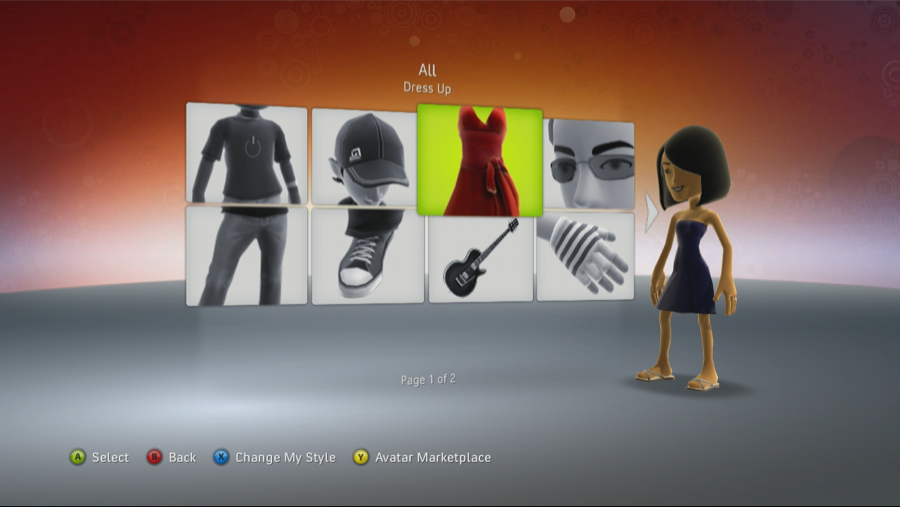 Xbox 360 Avatar Marketplace Page 1