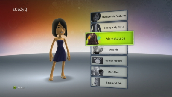 Xbox 360 Avatar Marketplace Entry