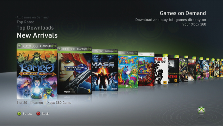 Xbox 360 Games on Demand Channel
