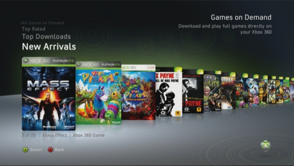 Xbox 360 Games on Demand 2