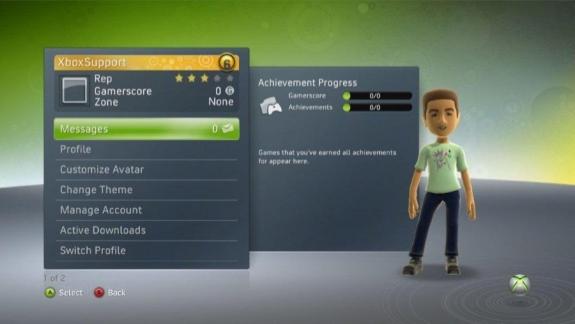 Xbox 360 Gold Member Veteran Status Dashboard