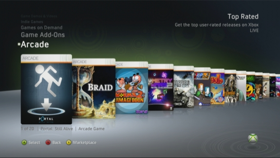 Xbox 360 Top Rated Arcade Titles
