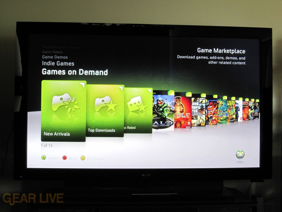 Xbox 360 Dashboard Games on Demand