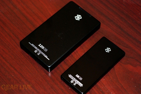 Zune 120 and Zune 16 back