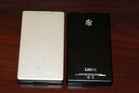 Zune 120 vs Zune 80 back