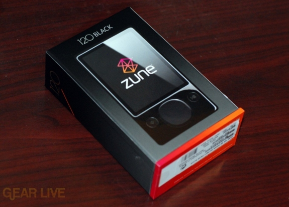 Zune 120: Box front