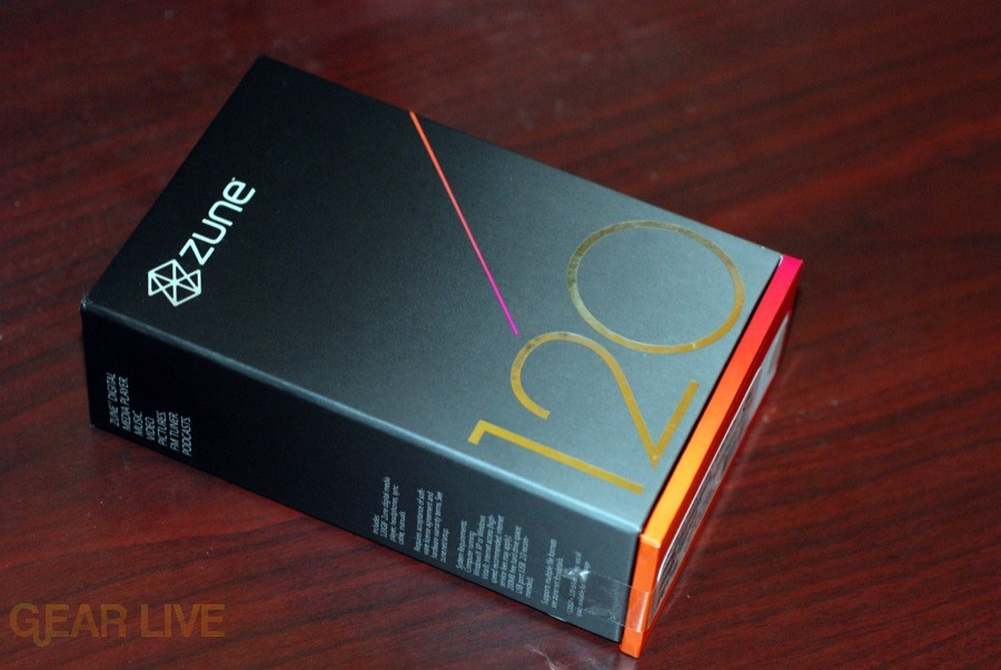 Zune 120: Box back