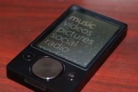 Zune 120: Menu screen