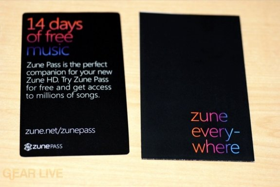 Zune HD promos and instructions