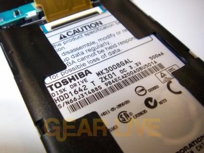 Zune's Toshiba Hard Drive