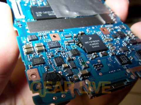 Lower Portion of Zune Motherboard