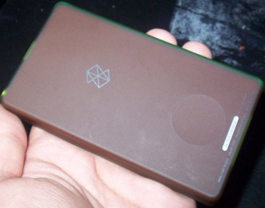 Back of Microsoft Zune