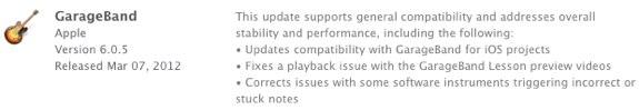 GarageBand 6.0.5