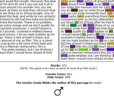 Gender Genie