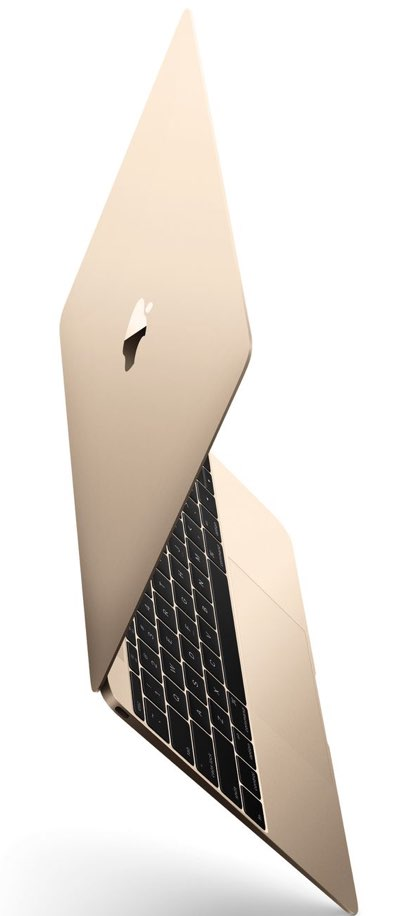 gold macbook angled