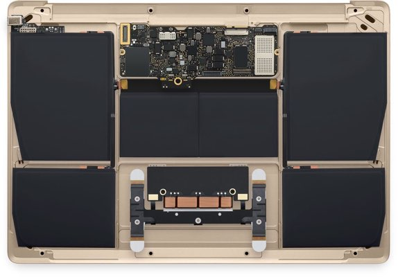 gold macbook battery