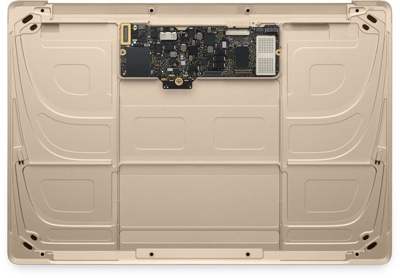 gold macbook logic board