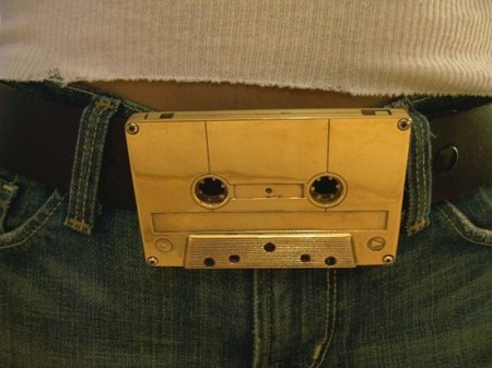 Gold Cassette Belt Buckle