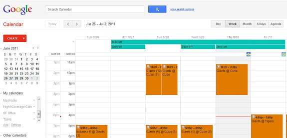 Google Calendar redesign