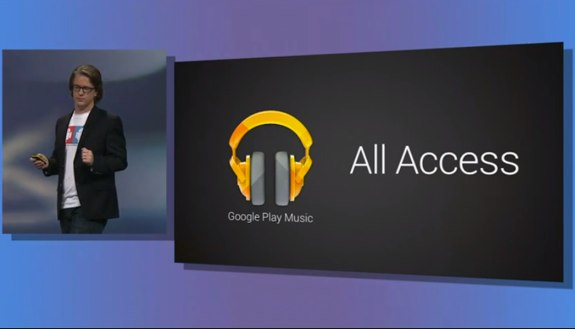 Google Play Music All Access music