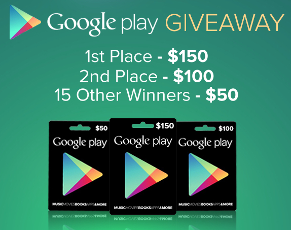 $1000 Google Play giveaway