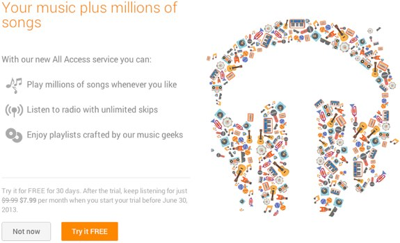 Google Play Music All Access trial