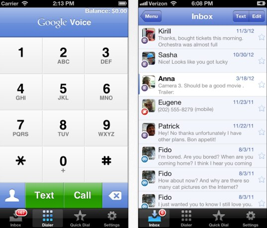 Google Voice iPhone 5