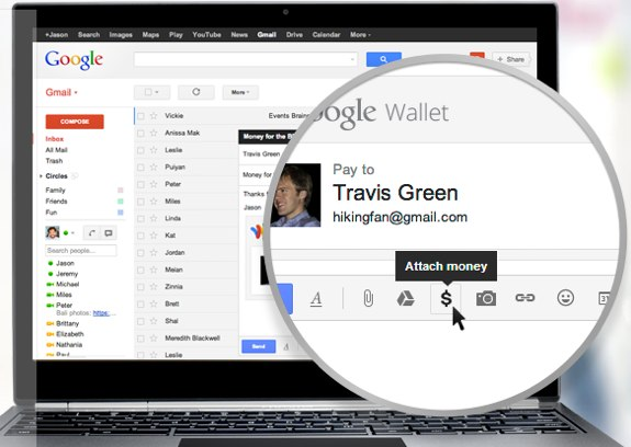Send Money in Gmail with Google Wallet
