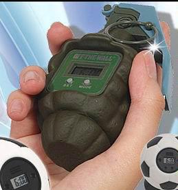 Hand Grenade Clock