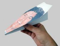 David Hasselhoff Paper Airplane