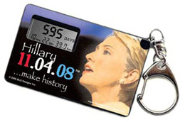 Hillary Countdown to Election Key Chain