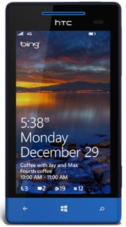 HTC 8X lock screen