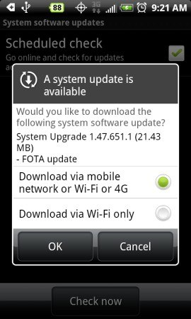 HTC EVO 4G OTA Update 1.47.651.1