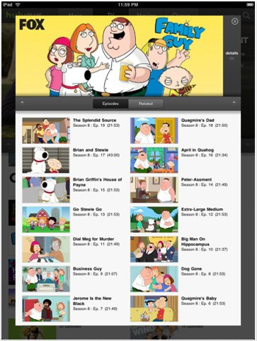Hulu Plus iPad iphone app